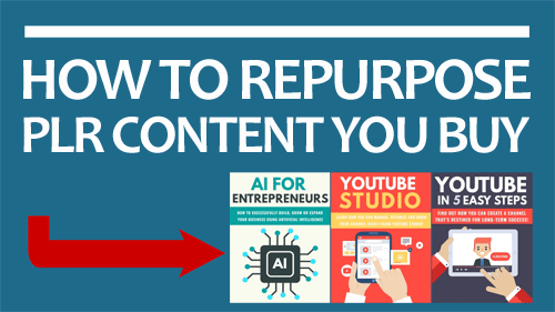 How To Repurpose PLR Content You Buy