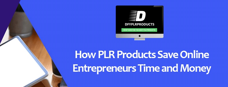 How PLR Products Save Online Entrepreneurs Time and Money