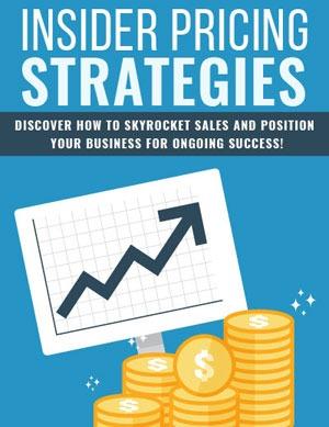 Insider Pricing Strategies PLR eBook