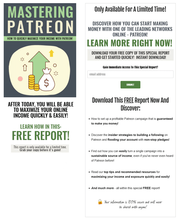 Mastering Patreon PLR Squeeze Page