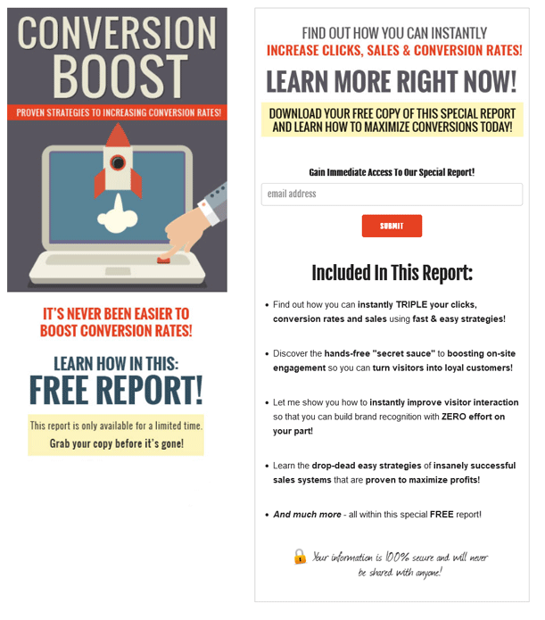 Conversion Boost PLR Squeeze Page