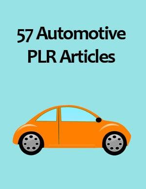 automotive plr articles