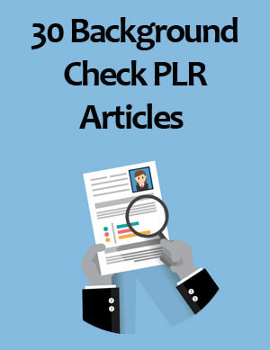 background check plr articles