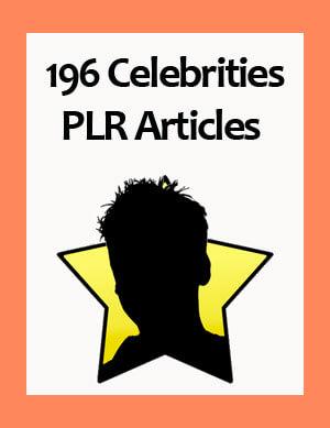 celebrities plr articles