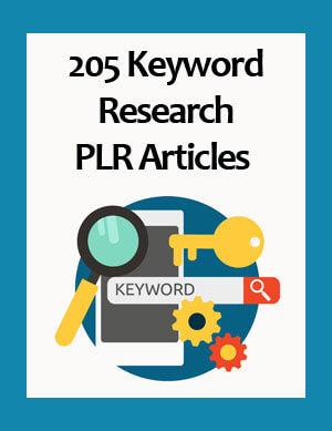 keyword research plr articles