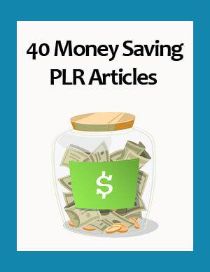 money saving plr articles