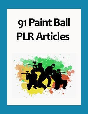 paint ball plr articles