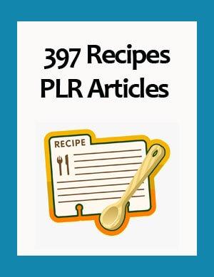 recipes plr articles