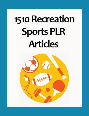 recreation sports plr articles