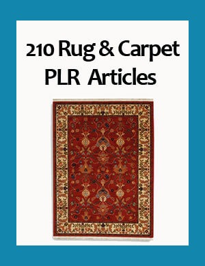 rug and carpet plr articles