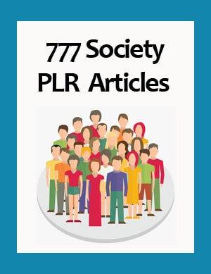 society plr articles
