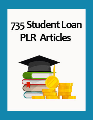 student loan plr articles