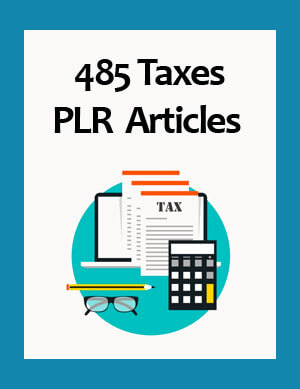 taxes plr articles