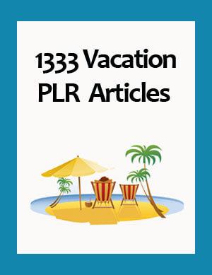 vacation plr articles