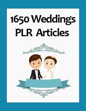 weddings plr articles